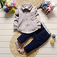 Dijete Dječaci Pamuk Jednobojni Unutrašnji Vanjski Ležerno/za svaki dan Škola Sva doba Dugih rukava Komplet odjeće Djetelina Sive boje