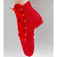 billige Jazz-sko-Dame Jazz Tekstil Flate Trening Plattform Hvit Svart Rød <1inch