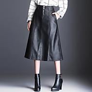 女性用 プラスサイズ Aライン スカート - ソリッド