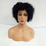 Naisten Ihmisen hiukset Capless Peruukit Musta Lyhyt Afro Tummille naisille