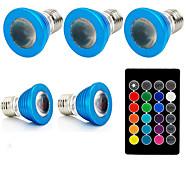 1set 3W E27 LED-kohdevalaisimet 1 ledit Teho-LED Kauko-ohjattava Koristeltu RGB 240lm 610-640, 460-470, 501-540