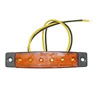 sencart 12pcs 6led 2835smd sárga lámpa fék oldaljelző autó motorkerékpár indikátorok dc12v