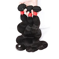 Natural Color Hair Weaves Indian Texture Body Wave 3 Pieces hair weaves
