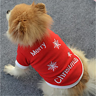 Hund Sweatshirt Hundetøj Polarfleece Vinter Forår/Vinter Afslappet/Hverdag Snefnug Hvid Rød For kæledyr