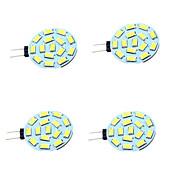 baratos Luzes LED de Dois Pinos-4pçs 1W 200lm G4 Luminárias de LED  Duplo-Pin T 15 Contas LED SMD 5730 Decorativa Branco Quente Branco Frio 12-24V