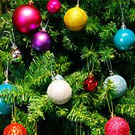 24個/セット4センチメートルモダンなクリスマスツリーボールの闘いクリスマスパーティーウェディング飾りクリスマス装飾用品