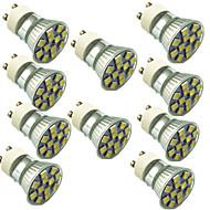 billige Spotlys med LED-10pcs 1.5W 130lm GU10 LED-spotpærer 12 LED perler SMD 5050 Dekorativ Varm hvit Kjølig hvit 220V