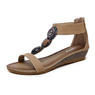 Mujer Zapatos Cachemira Primavera Confort Tacones Tacón Stiletto Dedo Puntiagudo Remache Negro / Gris / Rojo Q0gMi1m7