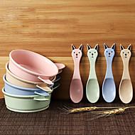 かわいい大きな耳のウサギの子供のアンチホットボウルの食器は、ランダムな色を設定します.
