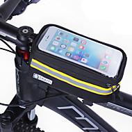 Vesker til sykkelramme Mobilveske 4.8-5.7 tommers Reflekterende Stripe Vindtett Pusteevne Berøringsskjerm Sykling til Samsung Galaxy S6