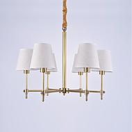 ヨーロッパ6頭リビングルーム/寝室/食堂の部屋/玄関のためのamercian古典的なスタイルの銅のシャンデリアランプシンプルな豪華なペンダントライト