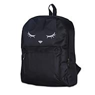 billige Skoletasker-Dame Tasker Lærred rygsæk for Afslappet udendørs Alle årstider Hvid Sort Lilla Rosa