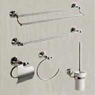 Zestaw akcesoriów łazienkowych Wieszak na ręczniki Pierścień na ręczniki Uchwyt na papier toaletowy Stojak na szczotkę klozetową
