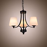 billige Takbelysning og vifter-3-Light Lysekroner Omgivelseslys Metall Glass 110-120V / 220-240V Pære ikke Inkludert / E26 / E27