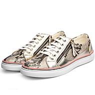 baratos Sapatos de Tamanho Pequeno-Homens sapatos Gliter Outono / Inverno Conforto Tênis Dourado / Preto / Festas & Noite