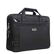 Unisex Bags Oxford Cloth Briefcase Zipper for Office & Career All Seasons Black