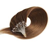 mikro silmukka rengas hiukset laajennukset Brasilian ihmisen hiukset 40g-50g / pack pitkä aaltoileva mikro silmukan hiukset laajennukset