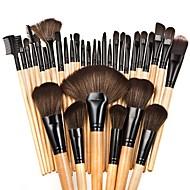 32pcs Pinceles de maquillaje Profesional Sistemas de cepillo / Cepillo para Colorete / Pincel para Sombra de Ojos Bonito / Cobertura completa Haya / aluminio