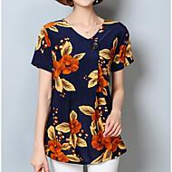 Bluza Žene Cvjetni print V izrez Poliester