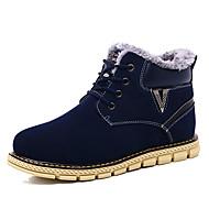 Hombre Zapatos Ante Otoño / Invierno Botas de Combate Botas Mitad de Gemelo Amarillo / Verde Ejército / Caqui ZxiuY