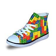 baratos Sapatos de Menina-Para Meninas Sapatos Lona Primavera / Outono Conforto Tênis para Cinzento / Roxo / Amarelo