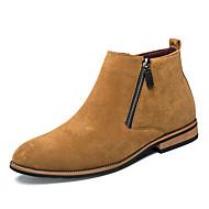 Masculino sapatos Camurça Outono Inverno Botas da Moda Botas Botas Curtas / Ankle Cadarço Para Casual Festas & Noite Preto Cinzento Marron