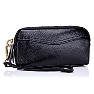 Women Bags Cowhide Coin Purse Zipper for Outdoor Office & Career All Seasons Black Blushing Pink Gray Fuchsia Light Purple