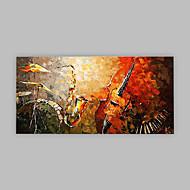 billiga Abstrakta målningar-Hang målad oljemålning HANDMÅLAD - Abstrakt Artistisk Abstrakt Duk
