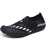 זול Small Size Shoes-גברים נעליים קנבס קיץ סתיו נוחות נעלי אתלטיקה כושר וחיטוב עבור אתלטי לבן שחור כחול