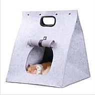 חתול כלב תיקי נשיאה ותרמילי גב לנסיעות חיות מחמד מנשאים נייד מתקפל אחיד אפור חום