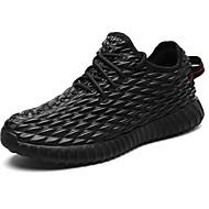 Muškarci Cipele PU Zima Jesen Udobne cipele Sneakers Vezanje za Kauzalni Crn Bež Sive boje