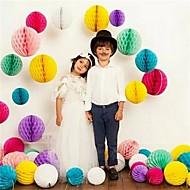 10ks / set 8 palců svatební dekorativní papírový papír voštinové kuličky dekorace dodávky