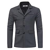 Masculino Casaco Para Noite Casual Simples Temática Asiática Inverno,Sólido Padrão Algodão Colarinho de Camisa Manga Longa