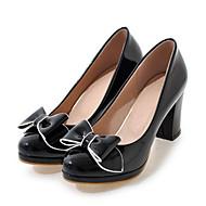 Mujer Zapatos Ante Primavera / Otoño Confort Tacones Tacón Cuadrado Dedo cuadrada Negro / Púrpula Claro / Almendra 3RtKU