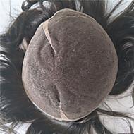 8 * 10 luonnollista hiusnauhaa 2 # miesten toupee ihmisen hiukset peruukit ja hiuslisäkkeet