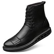 Masculino sapatos Pele Real Pele Napa Pele Inverno Conforto Botas de Neve Botas da Moda Botas de Moto Coturnos Forro de fluff Botas Botas