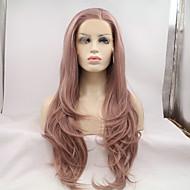 Pruik Lace Front Synthetisch Haar Lang Lavendel Natuurlijke haarlijn Natuurlijke pruik Kostuumpruik