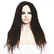 Kvinder Syntetiske parykker Lågløs Lang Kinky Krøller Afro Mørk Brun/ Mørk Kastanjerød Sort Mørkebrun / Mellem kastanjerød Afrikanske