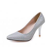 Hombre / Mujer / Unisex Zapatos Cuero Patentado / Microfibra Primavera / Verano Tacones Paseo Tacón Cuadrado Lunares Negro / Plata / Azul IiGEb