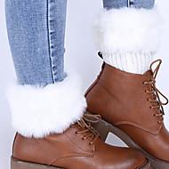 kvinders mellemstore strømper, akryl, modefarve, tyk, varm pelsdekoration