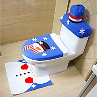 Random Style Merry Christmas And Happy New year Best Christmas Gift & Christmas Decorations Bathroom Toilet Seat Carpet