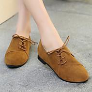 Mujer Zapatos Cuero Primavera / Otoño Confort / Gladiador Zapatos de taco bajo y Slip-On Media plataforma Dedo redondo Dorado / Plateado 8UA8F