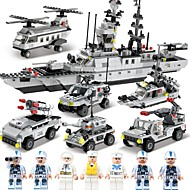 SHIBIAO ブロックおもちゃ ボート 航空母艦 おもちゃ 軍艦 戦闘機 警官 航海 軍隊 DIY クラシック 成人 男の子 1090 小品