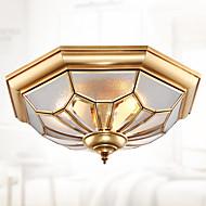 stil alt-kobber absorberende lampe amerikansk stue antikke kobber lampe spisestue kobber tak europeiske balkong kobber lampe