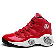 cheap Men's Athletic Shoes-Men's Athletic Shoes Comfort Fall Winter Real Leather Athletic Casual Lace-up Flat Heel Red Black White Flat