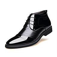 Erkek Ayakkabı Gerçek Deri Tüylü Sentetik Kış Sonbahar Rahat Biçimsel Ayakkabı Kürk Astar Kabarık astar Oxford Modeli Günlük için Bağcıklı