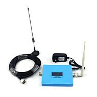 mini intelligent lcd display cdma 850mhz dcs 1800mhz mobiltelefon signal booster signal repeater med pisk antenne / sucker antenne blå