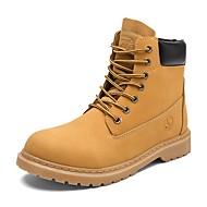 Miehet kengät Nahka Kevät Syksy Maiharit Bootsit Solmittavat Käyttötarkoitus Kausaliteetti Musta Keltainen Khaki