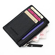 Unisex Bags PU Wallet Zipper for Shopping Casual All Seasons Black Red Blushing Pink Gray Fuchsia