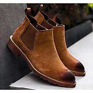 Herre sko Nubuck Skinn Høst Vinter Komfort Kampstøvler Støvler Til Avslappet Svart Beige Brun